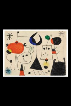 Art History News: Joan Miró at Auction Joan Miro Paintings, Spanish Painters, Pin Art, Jewish Art, Elementary Art, Oeuvre D'art, Les Oeuvres, Art Lessons, Art For Kids