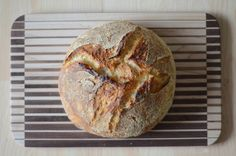 I tried the 3 ingredient Mark Bittman no knead bread over the weekend. It came out even better than I expected.