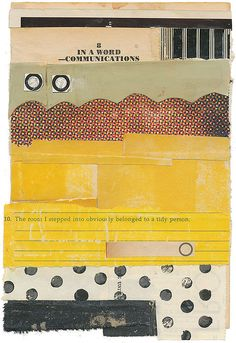 Melinda Tidwell Abstract collage using books