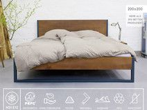 N51e12 Nature Oak Bed Eiche Stahl Oak Beds