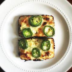 Medifast Cauliflower Bread Slices w/ Cream Cheese Spread