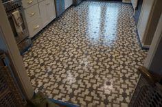DIY:  Stenciled Kitchen Floor Tutorial.