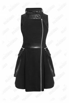 #urban #versatile #fashion Your favorite versatile piece is back! This leatherette-trimmed cotton-blend dress is a perfect wardrobe staple. Unzip the dress and you get a gilet. Think differently, make difference!