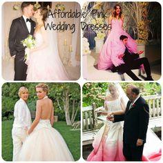 Affordable Pink Wedding Dresses - Celebrities