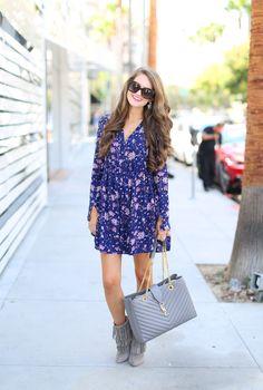 floral shirtdress
