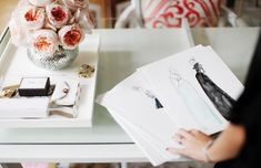 At the office with Dallas Shaw, Fashion Illustrator.
