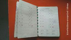 kiertoidea - recycled ideas: Kalenteri jämäpapereista - Scrap paper calender