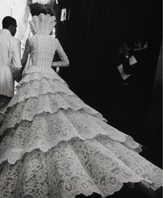 Backstage at Givenchy Haute Couture Autumn/Winter 1998 by Alexander McQueen