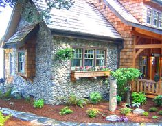 red cedar shake cottage | on Puget Sound straight across from Seattle. I used red cedar shakes ...