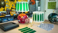 DIY Football Lamp! Created by @mattiseman & Matt Rogers on Home and Family!