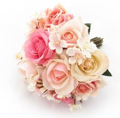A medium posy of roses and blossom by Loveflowers http://www.loveflowers.com.au/