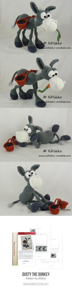 Dusty The Donkey Amigurumi Pattern 6$