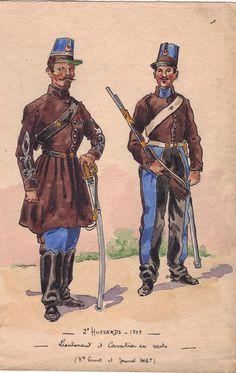 2nd Hussars Officer and Trooper 1848 in Algeria