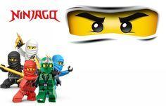 "Convites Digitais Simples: Kit Digital Aniversário ""Ninjago"" para Imprimir"