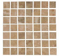 "#Interceramic - Travertino Royal 12"" x 12"" Walnut/Noce Mosaic"