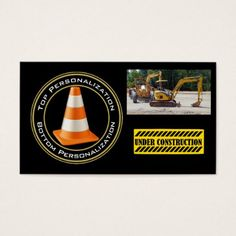 Heavy Equipment Construction Business Card - construction business diy customize personalize