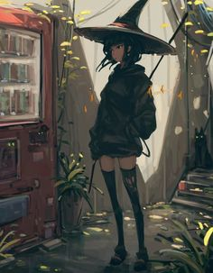 Pretty Art, Cute Art, Fantasy Character Design, Character Art, Witch Characters, Fictional Characters, Witch Drawing, Anime Witch, Witch Art