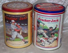 Vtg Collectible CRACKER JACK LIMITED EDITION TINS 1990 and 1991- Baseball-VGUC…