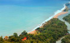 Painan Beach.. Caputed from Puncak Langkisau.. Sumatra Barat, Indonesia..