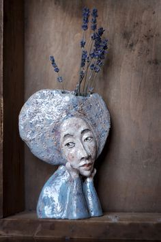 Handmade designs by Yana Fefelova: Ceramics - Ceramic Art, Ceramic Pottery Ceramic Clay, Ceramic Pottery, Pottery Art, Pottery Ideas, Pottery Sculpture, Sculpture Clay, Ceramic Sculpture Figurative, Sculptures Céramiques, Ceramic Techniques