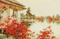 """Google+Экзотические  акварели  Британской художницы    Эллы  Дю Кейн /Элла Du Cane :1874-1943 г. /из книги иллюстраций на тему """"японские сады"""". Книга была издана в 1908 г. под названием   Цветы и Сады Японии """"The Flowers and Gardens of Japan"""" (L"""