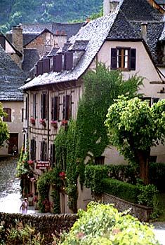 Conques, France. There are two: this is either in Aude, Languedoc-Roussillon or in the mid-Pyrenees.