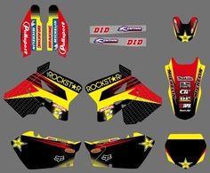 44.99$ Watch now - http://ali4td.shopchina.info/go.php?t=32512639468 - 0553 Star New Style TEAM DECALS STICKERS Graphics&Backgrounds Kits for Suzuki RM125 RM250 2001 - 2011 2012 #buychinaproducts