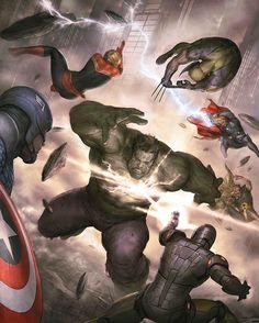 Avengers v Hulk  by AGUSTIN ALESSIO Download at nomoremutants-com.tumblr.com  #marvelcomics #Comics #marvel #comicbooks #avengers #captainamericacivilwar #xmen #xmenapocalypse  #captainamerica #ironman #thor #hulk #ironfist #spiderman #inhumans #civilwar #lukecage #infinitygauntlet #Logan #X23 #guardiansofthegalaxy #deadpool #wolverine #drstrange #infinitywar #thanos #gotg #RocketRaccoon #venom #nomoreinhumans http://ift.tt/2h0Th6G