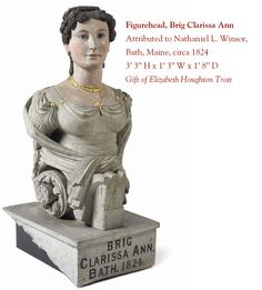 figurehead from the Brig Clarissa Ann on Display at Maine Maritime Museum.