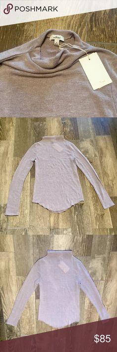 NWT Wilfred Aritzia Mock-Neck Sweater NWT. Taupe color. Wilfred brand from Aritzia. Mock neck style. Fine knit. Aritzia Sweaters Cowl & Turtlenecks