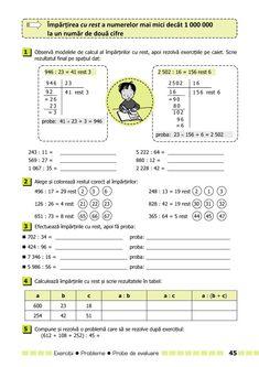 Clasa a IV-a : Matematică. Clasa a IV-a Montessori, Periodic Table, Words, Calculus, Periodic Table Chart, Periotic Table, Horse