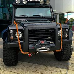 Land Rover Defender 110 Td4 Sw Se customized Twisted extreme adventure sports as SPECTRE Edition.  Front view.