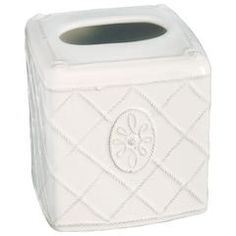 Juliska Jardins du Monde Whitewash Tissue Box Cover