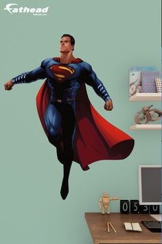 Do your kids love the comic greats? Fathead has a great selection of vinyl wall decals and murals featuring heroes such as Superman, Spiderman, Iron Man, Batman and more! Unleash your kid's inner Superhero voice. SHOP http://www.fathead.com/heroes/batman-vs-superman/superman-batman-v-superman-fathead-jr-wall-decal/ | Home Decor On A Budget | Kids DIY Bedroom Decor | Peel + Stick Wall Murals | Playroom | Fathead Wall Decals