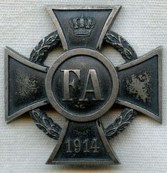 WWI Imperial German Friedrich August of Oldenburg Cross 1st Class