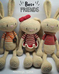 Conejos amigurumi. Patrón de Creativa Atelier.
