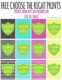 Free Choose the Right Prints