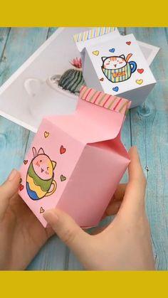 Diy Crafts For Teens, Diy Crafts Hacks, Diy Crafts For Gifts, Cool Paper Crafts, Paper Crafts Origami, Diy Paper, Mode Origami, Instruções Origami, Origami Boxes