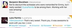 Awesome tweets from awesome Lana and Ben Stockham