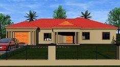 Two Bedroom House Design, 4 Bedroom House Plans, Cheap House Plans, My House Plans, Single Storey House Plans, Tuscan House Plans, House Plans South Africa, Garage Door Installation, Building Costs