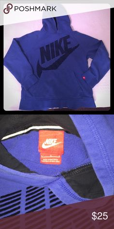 Nike Sweatshirt Youth boys sweatshirt worn by my son for a full year who has now grown out of it. Nike Shirts & Tops Sweatshirts & Hoodies