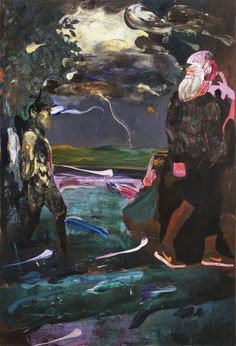 Adrian Ghenie, Darwin and the Satyr (2014)