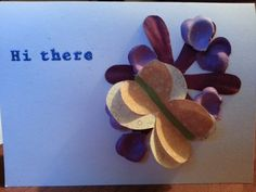 Another butterfly card. Real simple ;)