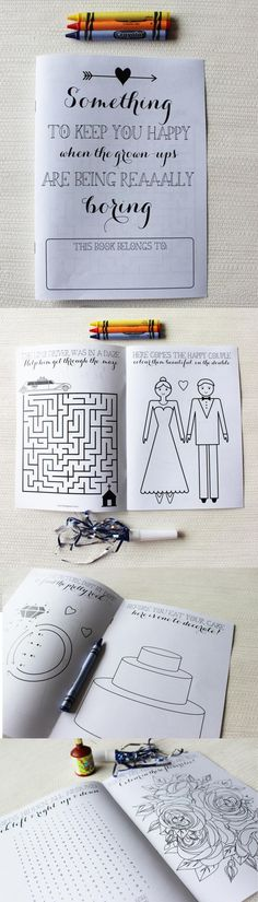 Activity books for kids during the wedding