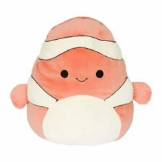 Squishmallow Kellytoy 8 inch Ricky The Clownfish- Super Soft Plush Toy Animal Pillow Pal Buddy Stuffed Animal Birthday Gift Holiday Easter Pillow Pals, Rick Y, Cute Stuffed Animals, Animal Birthday, Panda Birthday, Birthday Stuff, Cute Plush, Animal Pillows, Pet Toys