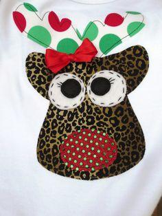 Cheetah Reindeer Shirt and Boutique Cheetah by ThreeWildGirls, $40.00