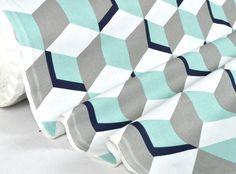 """Tissu """"Stairs"""" vendu par multiple de 10cm : Tissus Habillement, Déco par la-mercerie-de-clementine"""