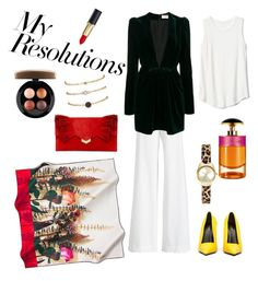 """""""#PolyPresents: New Year's Resolutions"""" by aida-sbotv on Polyvore featuring MAC Cosmetics, Ralph Lauren Collection, Yves Saint Laurent, Balenciaga, Jimmy Choo, Gap, Prada, contestentry and polyPresents"""