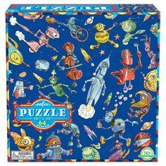 Lots of Robots 64 Piece Puzzle| eeBoo