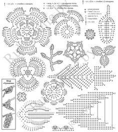 Crochet Leaf Patterns, Crochet Leaves, Crochet Motifs, Freeform Crochet, Crochet Diagram, Crochet Chart, Crochet Designs, Crochet Flowers, Lace Patterns